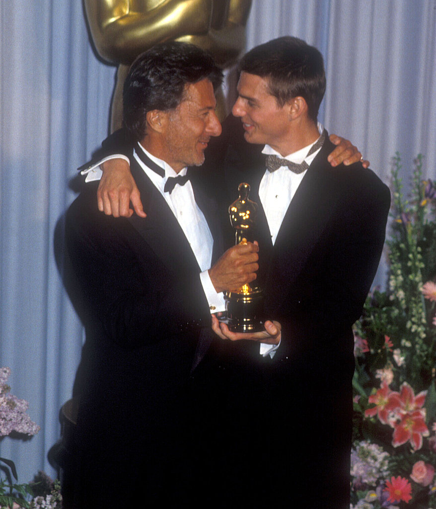 Dustin Hoffman and Tom Cruise, 1989.