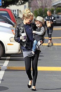 Pictures of Nicole Richie and Sparrow Madden Getting Coffee in LA