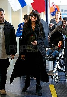 Pictures of Jennifer Hudson and Baby David Otunga Jr at LAX