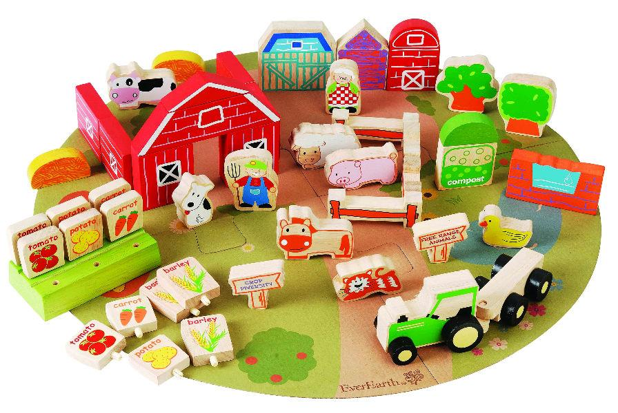 Wooden Toy Organic Farm Set