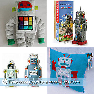 Vintage Robot Decor For Kids Rooms