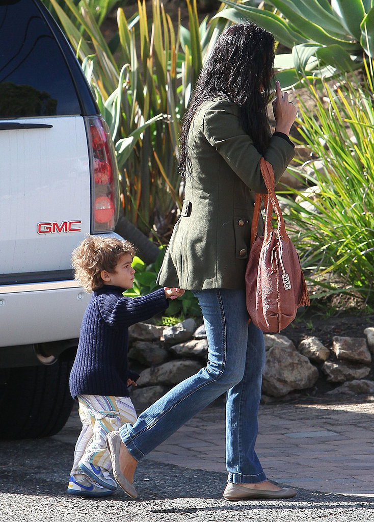 Camila and Levi Head to School Hand in Hand