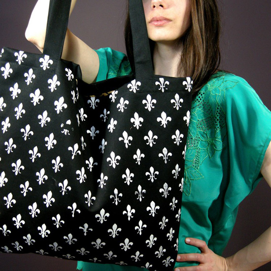 Black and White Tote Bag ($34)