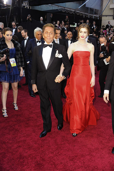 Anne Hathaway's First Look of the Oscars Is From Valentino!