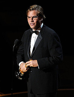 Picture and Quotes From Aaron Sorkin About Mark Zuckerberg in 2011 Oscars Press Room 2011-02-27 20:07:29