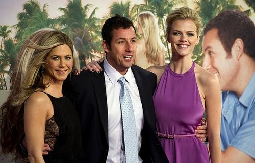 Jennifer Aniston, Brooklyn Decker and Adam Sandler on the Red Carpet of Just Go With It Berlin Premiere