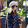 Pictures of Anne Hathaway Getting Coffee in Hollywood Ahead of the Oscars