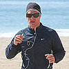 Pictures of Matthew McConaughey Running on the Beach in LA