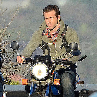 Pictures of Ryan Reynolds Riding a Motorcycle on the Cape Town Set of Safe House