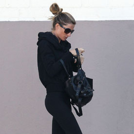 Pictures of Gisele Bundchen at Gym