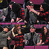 New Couple Olivia Munn and Glee's Matthew Morrison Kissing at Rangers Basketball Game at Madison Square Garden
