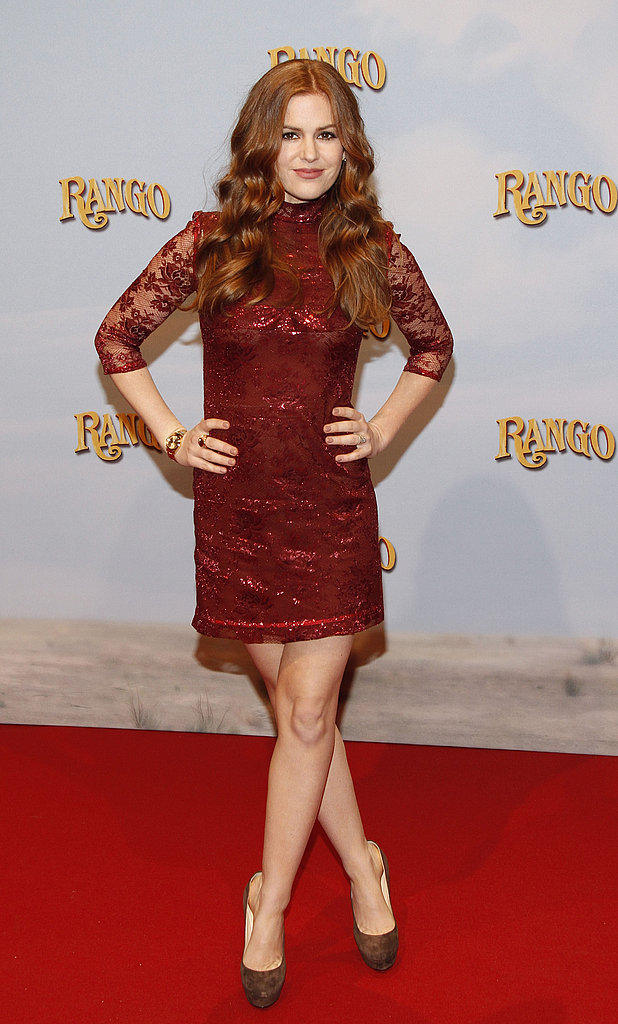 Isla Fisher Is Red Hot at Another Rango Premiere
