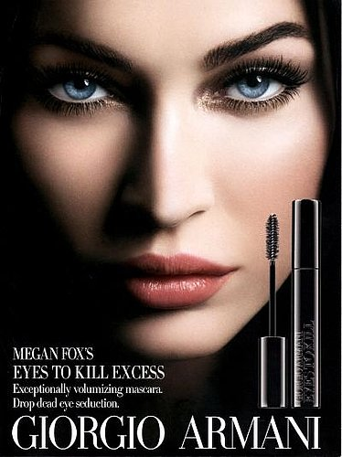 Megan Fox For Giorgio Armani Eyes to Kill Excess Mascara: Behind-the-Scenes Video and Ad Campaign!