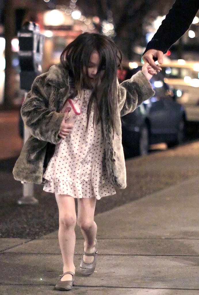 Suri Cruise Leaps, Bounds, and Holds Hands With Dad in Vancouver