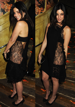 Julia Restoin-Roitfeld Attends London Fashion Week Event in Sexy Lace Dress 2011-02-22 09:16:05