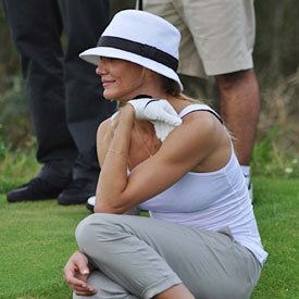 Pictures of Cameron Diaz and Alex Rodriguez Golfing in Dominican Republic