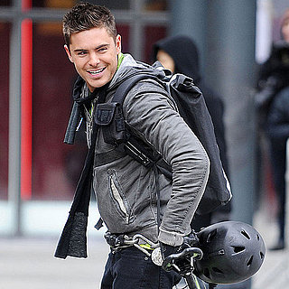 Pictures of Zac Efron Playing a Bike Messenger on the Set of New Year's Eve in NYC