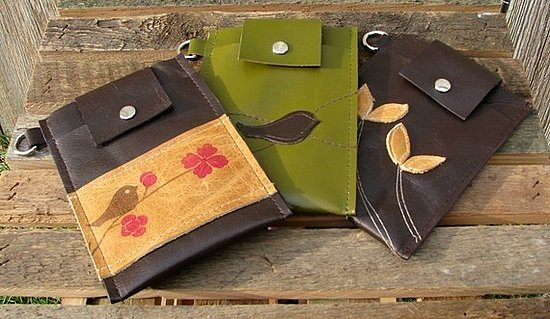 Leather Bird Wristlets