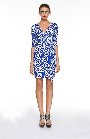Diane von Furstenberg Julian Swirl Wrap Dress ($325)