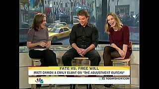 Matt Damon and Emily Blunt Today Show Interview With Meredith Vieira