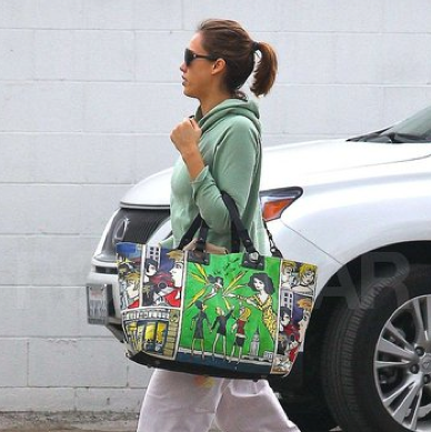 Jessica Alba Keeps Her Baby Bump in Shape With a Visit to the Gym