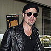 Pictures of Brad Pitt Wearing the Love Pendant Designed by Angelina Jolie