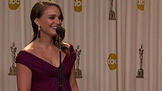 Video of Oscar Winner, Black Swan's Natalie Portman Talking About Baby Names in the Oscar Press Room