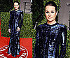 Lea Michele in sequinned Roberto Cavalli at The Vanity Fair Oscars Party 2011