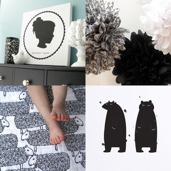 Pimp Your Crib: Beautiful Black and White Accents For Baby's Nursery