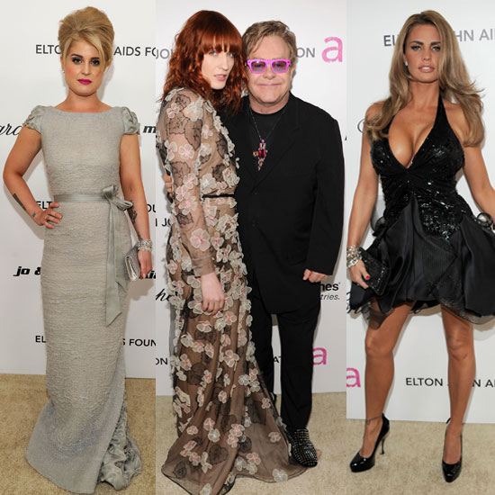 British Stars Kelly, Florence, and Katie Join Up For Elton John's Oscars Party