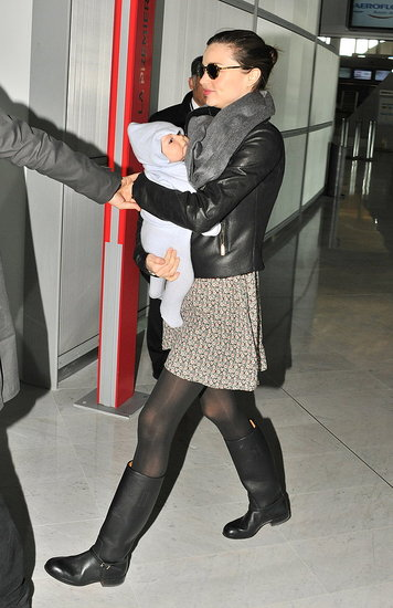 Miranda and Orlando Take Off From Paris With Flynn