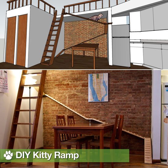 DIY Kitty Ramp
