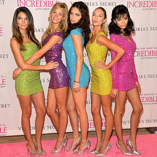 Pictures of Lily Aldridge, Erin Heatherton, Adriana Lima, Candice Swanepoel, and Chanel Iman at a Victoria's Secret Event