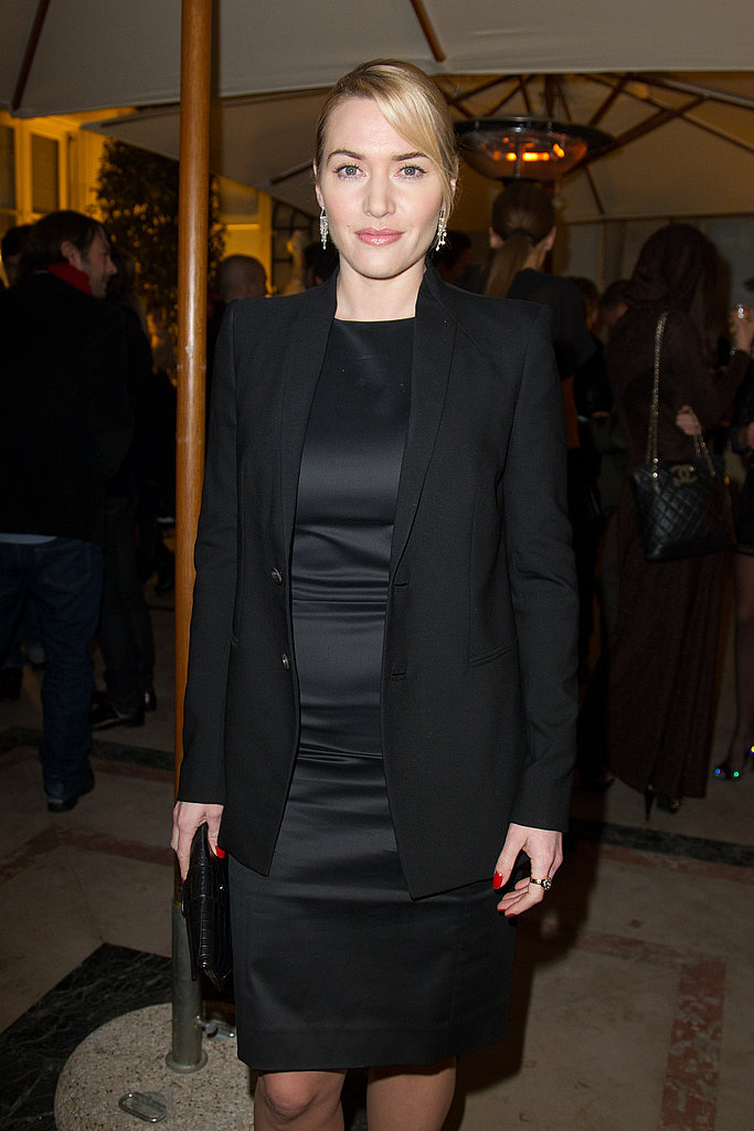 Kate Winslet Continues Her Streak of Little Hot Black Dresses