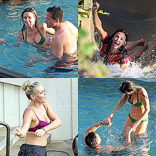 Pictures of Courteney Cox and Busy Philipps on the Hawaii Set of Cougar Town in Bikinis