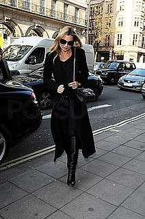 Pictures of Kate Moss Walking in London