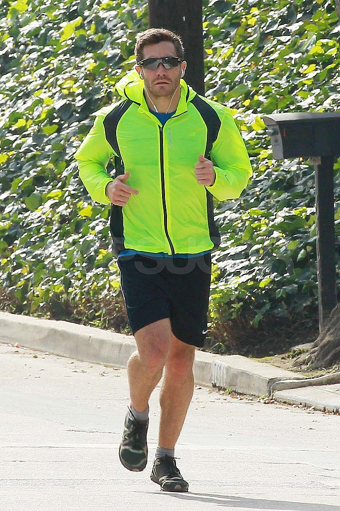 Jake Gyllenhaal Takes a Bright Jog Alongside Atticus