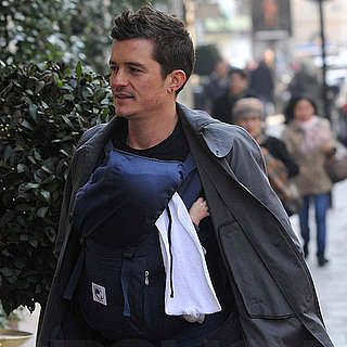 Pictures of Orlando Bloom Walking Paris With His Son Glynn