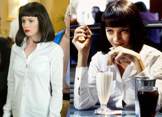 Britta as Mia Wallace