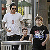 Pictures of David, Romeo, Cruz, and Brooklyn Beckham Getting Ice Cream in LA