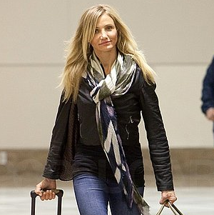 Pictures of Cameron Diaz Leaving From LAX