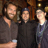 Colin Hanks posed with Luke Wilson and his brother Andrew at a 2003 Mardi Gras celebration.