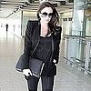 Pictures of Pregnant Victoria Beckham Arriving at Heathrow