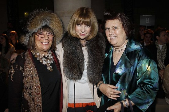 Hilary Alexander, Anna Wintour and Suzy Menkes at Valentino.