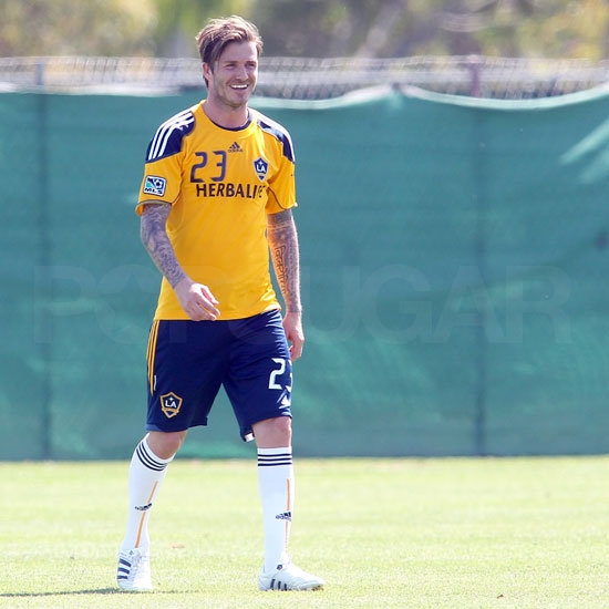 Pictures of David Beckham Looking Good at a Galaxy Practice