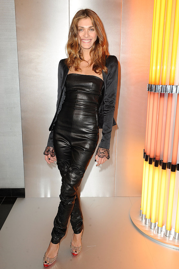Head-to-toe leather isn't an easy look to pull off, but she does it flawlessly at Paris Fashion Week last year.