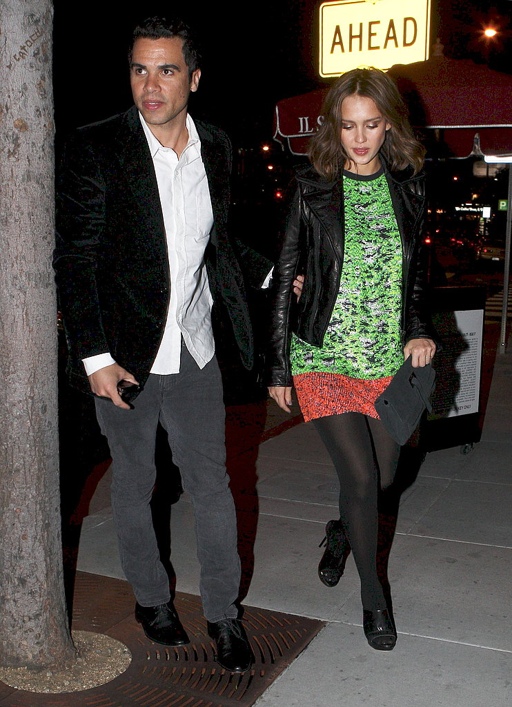 Jessica and Cash Have a Couples Night Out as They Await Their New Arrival