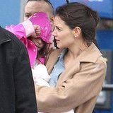 Katie Holmes and Suri Cruise Make Their Way Around Rainy NYC