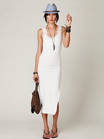 We're obsessing over the super-sexy fit and still totally casual vibe. Free People Rib & Lace Maxi Slip ($68)