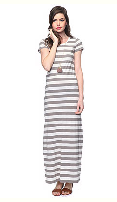 Easy silhouette, perfect stripes in three different colors, and so price-friendly we might just stock up on one of each. Striped Slub Knit Maxi Dress ($13)